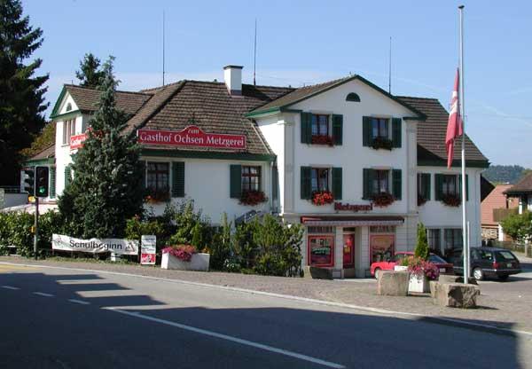 Metzgerei und Restaurant Ochsen im Jahr 2002